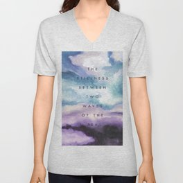 Stillness [Collaboration with Jacqueline Maldonado] Unisex V-Neck