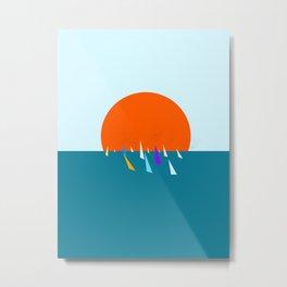 Minimal regatta in the sun Metal Print