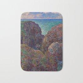 """Claude Monet """"Bloc de rochers à Port-Goulphar"""" Bath Mat"""