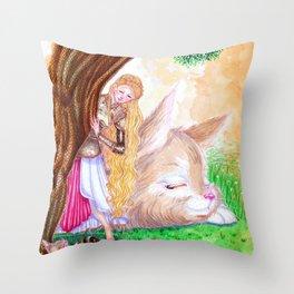 Goddess of Lust and War Throw Pillow