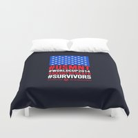 usa Duvet Covers featuring USA by Skiller Moves