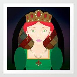 The Crimson Princess Art Print