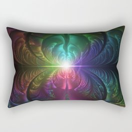 Anodized Rainbow Eyes and Metallic Fractal Flares Rectangular Pillow