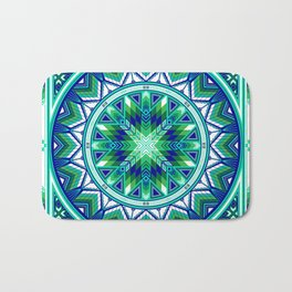 Sacred Places Green Bath Mat