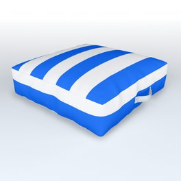 China Blue and White Medium Stripes Outdoor Floor Cushion