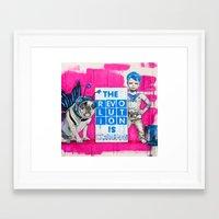 revolution Framed Art Prints featuring Revolution by Richard Carrie