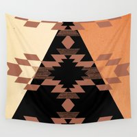 mexico Wall Tapestries featuring Mexico by Laura Santeler
