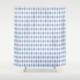 Transgender Argyle Shower Curtain