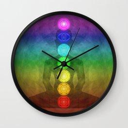 Buddha Chakras Network Wall Clock