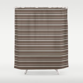Benjamin Moore 2019 Color of the Year 2019 Metropolitan Light Gray on Mustang Brown 2111-30 Shower Curtain