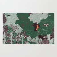 league of legends Area & Throw Rugs featuring Forest Legends by Tamar Dovrat