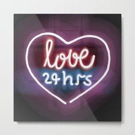 Love 24hrs Metal Print