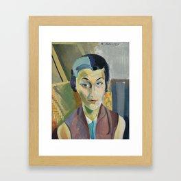 "Robert Delaunay ""Portrait of Maria Lani"" Framed Art Print"