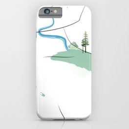 Beautiful abstract woman's shoulder with forest and river.  iPhone Case