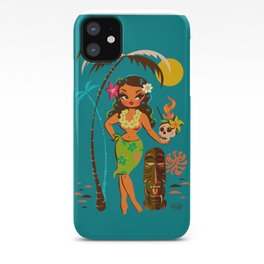 Tiki Temptress • With Skull Mug Cocktail iPhone Case