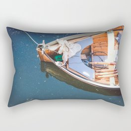 Nautical Fine Art Photography Boat in Water Rectangular Pillow