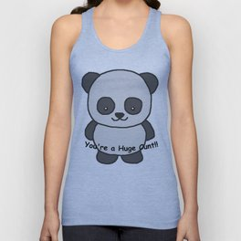 Panda says you're a huge cunt Unisex Tank Top