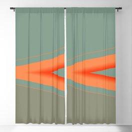 Army Green Orange Stripe Blackout Curtain