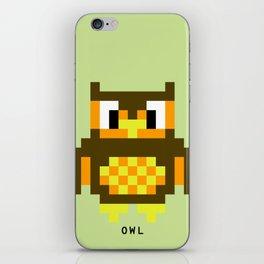 8 Bit Owl iPhone Skin