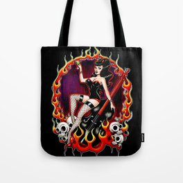 Rockabilly Rockabella (Black) Tote Bag