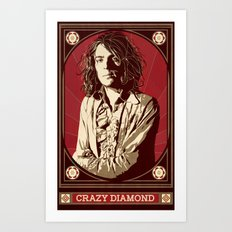 Syd Barrett/Crazy Diamond Art Print