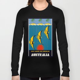 Great Barrier Reef Australia travel advertising Long Sleeve T-shirt