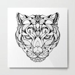 Leopard - Drawing Metal Print