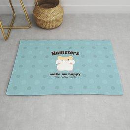 Hamsters make me happy Rug