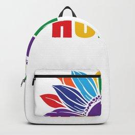 Pride Sunflower Human Be Human LGBT Backpack