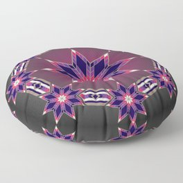 Morning Star Circle (Purple) Floor Pillow