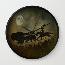 Night Hunter Wall Clock