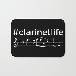 #clarinetlife (dark colors) Bath Mat