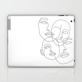 Messy Faces Laptop & iPad Skin