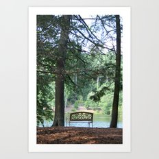 Biltmore Bench Art Print