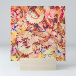 Coloured Pencil Shavings Mini Art Print