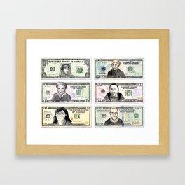 In Women We Trust Framed Art Print