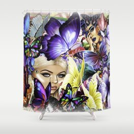 The Royal Butterfly Grounds Shower Curtain