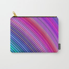 Cold rainbow stripes Carry-All Pouch