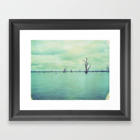 Lake Mulwala Polaroid Framed Art Print
