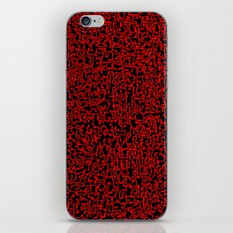 thought 2, red on black iPhone Skin