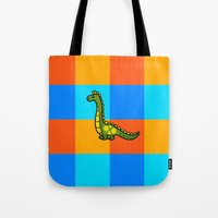 dino Tote Bags featuring Dino by ZaWe