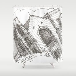 Oa[k]cliff Temple Shower Curtain
