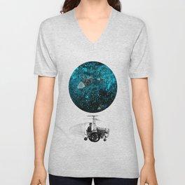 walk in space Unisex V-Neck