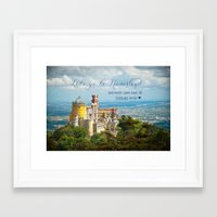 neverland Framed Art Prints featuring Neverland by Sandy Broenimann