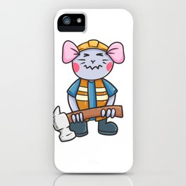Mouse construction hammer tool Children Gift iPhone Case