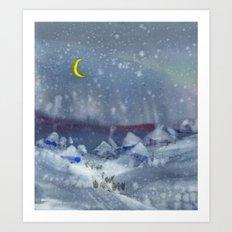 Winter magic Art Print