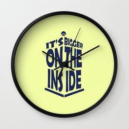 Tardis. it's bigger on the inside Wall Clock
