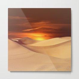 The Sunset On Desert Metal Print