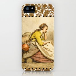 Traveling girl iPhone Case