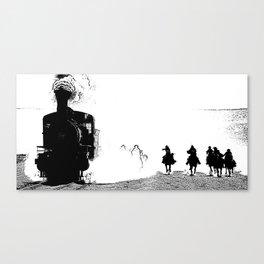 Cowboys riding their horses Canvas Print